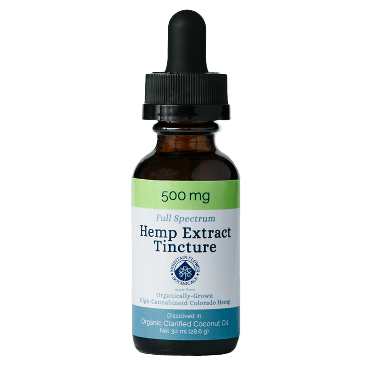 500 mg Full Spectrum Hemp Extract Tincture, organically grown