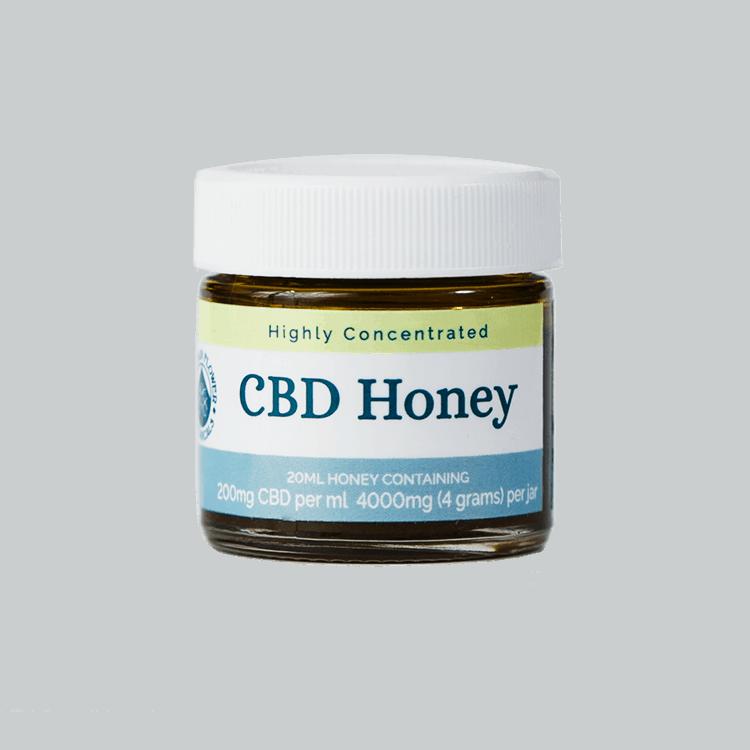Whole Plant CBD Honey, Highly Concentrated; 20 ml honey containing 200 mg CBD per ml, 4000 (4 grams) per jar